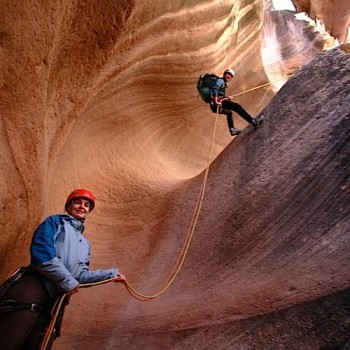 guided canyoneering trips and instructional courses